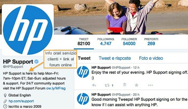 HP Support Twitter